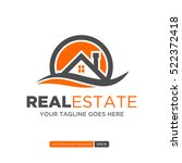 orange and grey home logo... | Shutterstock .eps vector #522372418