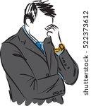 businessman worried gesture... | Shutterstock .eps vector #522373612