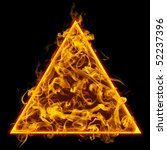 Symbol Of Triangle. Flame  ...