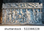 sarcophagus with dionysus and... | Shutterstock . vector #522388228