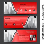 red banner template vector ... | Shutterstock .eps vector #522398896