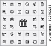 date icon. calendar icons... | Shutterstock .eps vector #522403255