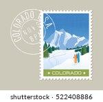 colorado postage stamp design. ... | Shutterstock .eps vector #522408886