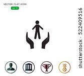 human life insurance sign icon. ...