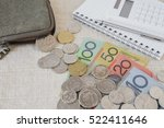 australian money  aud with... | Shutterstock . vector #522411646