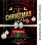 merry christmas party poster | Shutterstock .eps vector #522413632