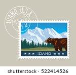 idaho postage stamp design.... | Shutterstock .eps vector #522414526