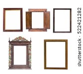 mix old wood frame isolated on... | Shutterstock . vector #522421282