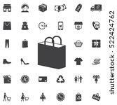 shopping bag icon. universal... | Shutterstock .eps vector #522424762