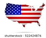 usa map. | Shutterstock .eps vector #522424876