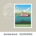 mississippi postage stamp... | Shutterstock .eps vector #522433402