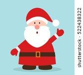funny santa. christmas greeting ... | Shutterstock .eps vector #522438322
