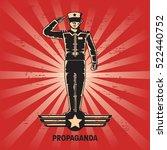 propaganda poster template | Shutterstock .eps vector #522440752