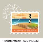 north carolina postage stamp... | Shutterstock .eps vector #522443032