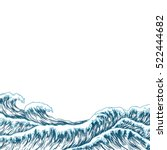 hand drawn wave background....   Shutterstock .eps vector #522444682
