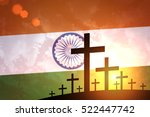 grave crosses on the background ... | Shutterstock . vector #522447742