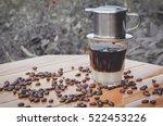 vienna coffee  black coffee and ... | Shutterstock . vector #522453226