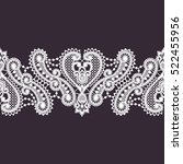 lace seamless pattern. | Shutterstock .eps vector #522455956