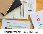 analysis chart and paperwork on ... | Shutterstock . vector #522461662