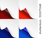 vector set of curled colored... | Shutterstock .eps vector #522475168