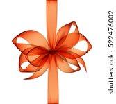 vector orange transparent bow... | Shutterstock .eps vector #522476002