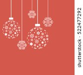 christmas snowflakes and balls. ... | Shutterstock .eps vector #522477292