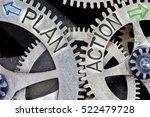 macro photo of tooth wheel... | Shutterstock . vector #522479728