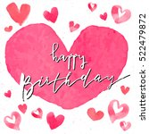 happy birthday text pink... | Shutterstock .eps vector #522479872