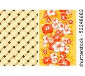 hawaiian floral seamless...   Shutterstock .eps vector #52248682