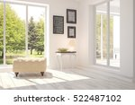 white room with chair and green ... | Shutterstock . vector #522487102