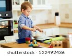 cute child learning to become a ... | Shutterstock . vector #522492436