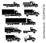 vector trucks icons set. | Shutterstock .eps vector #522492676