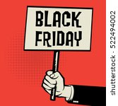 poster in hand  business... | Shutterstock .eps vector #522494002