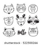vector set of cute animals  ...