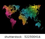 hello word cloud world map in... | Shutterstock .eps vector #522500416