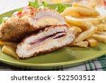 cutlet cordon bleu with pork... | Shutterstock . vector #522503512