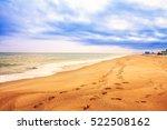 Beach Footprints In The Sand