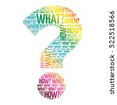 question mark  question words... | Shutterstock .eps vector #522518566