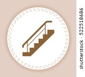 stairs  with  railings  icon | Shutterstock .eps vector #522518686