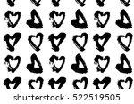 abstract seamless heart pattern.... | Shutterstock . vector #522519505
