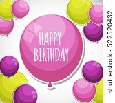 color glossy happy birthday... | Shutterstock .eps vector #522520432