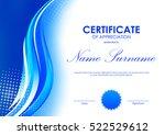 certificate of appreciation... | Shutterstock .eps vector #522529612