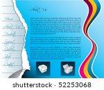 torn web template | Shutterstock .eps vector #52253068