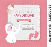 baby shower invitation card | Shutterstock .eps vector #522531016