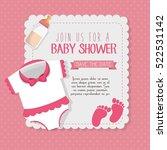 baby shower invitation card | Shutterstock .eps vector #522531142