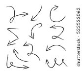 vector set of hand drawn arrows | Shutterstock .eps vector #522533062