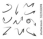 vector set of hand drawn arrows   Shutterstock .eps vector #522533098