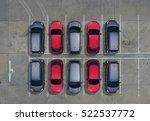 empty parking lots  aerial view.   Shutterstock . vector #522537772