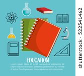 education set line icons | Shutterstock .eps vector #522541462