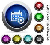 calendar alarm icons in round... | Shutterstock .eps vector #522542395
